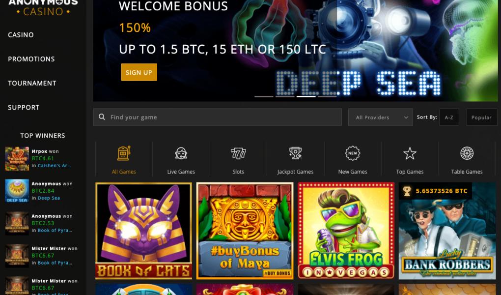 Screenshot of Anonymous Casino