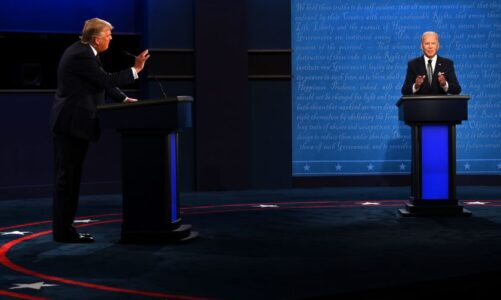 The US presidential debate has sparked fears of turmoil in Bitcoin and global stock markets
